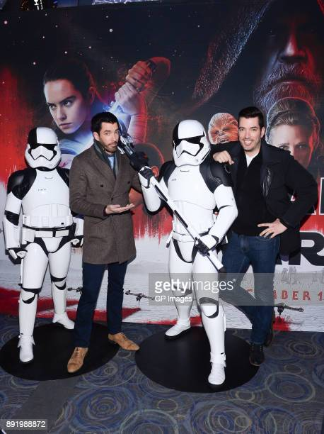 Drew Scott and Jonathan Scott attend the Star Wars The Last Jedi Canadian Premiere held at Scotiabank Theatre on December 13 2017 in Toronto Canada