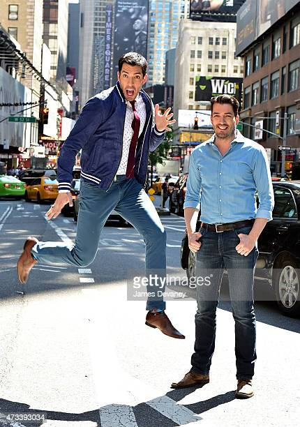 Drew Scott and Jonathan Scott seen on the streets of Manhattan on May 14 2015 in New York City