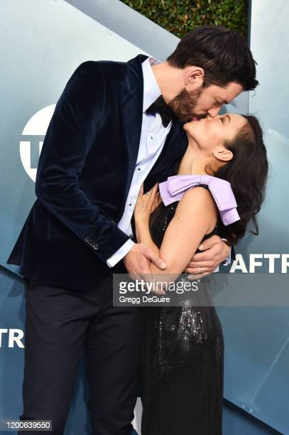 Drew Scott and Linda Phan attend the 26th Annual Screen ActorsGuild Awards at The Shrine Auditorium on January 19, 2020 in Los Angeles, California....