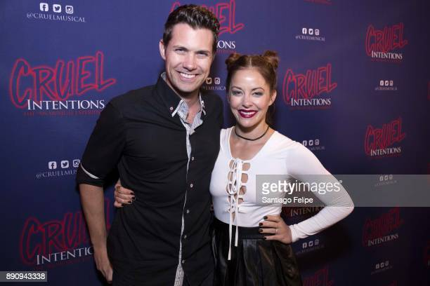 Drew Seeley and Amy Paffrath attend 'Cruel Intentions' The 90's Musical Experience at Le Poisson Rouge on December 11 2017 in New York City