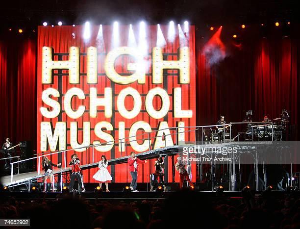 "Drew Seeley, Lucas Grabeel, Corbin Bleu, Ashley Tisdale, Vanessa Hudgens and Monique Coleman at the ""High School Musical"" In Concert - December 28,..."