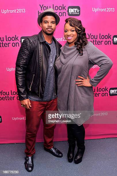 J Drew Sheard and Kierra Sheard attend the BET Networks 2013 New York Upfront on April 16 2013 in New York City