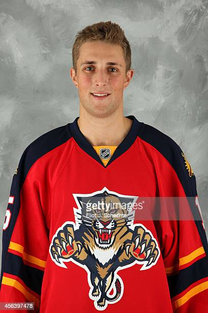 Drew Shore of the Florida Panthers poses for his official headshot for the 20142015 season on September 18 2014 at the BBT Center in Sunrise Florida