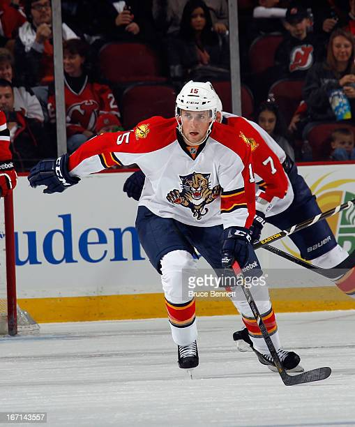 Drew Shore of the Florida Panthers skates against the New Jersey Devils at the Prudential Center on April 20 2013 in Newark New Jersey The Devils...