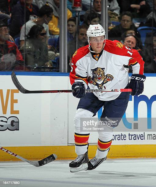 Drew Shore of the Florida Panthers skates against the New York Islanders at the Nassau Veterans Memorial Coliseum on March 24 2013 in Uniondale New...