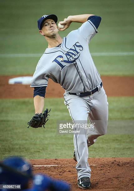 Drew Smyly of the Tampa Bay Rays pitched a complete game 2 hitter as the Jays go down 8-0 to the Tampa Bay Rays Rogers Centre August 22, 2014.