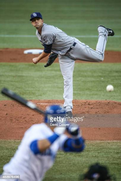 Drew Smyly of the Tampa Bay Rays pitches during the game between the Toronto Blue Jays and the Tampa Bay Rays Rogers Centre August 22, 2014.