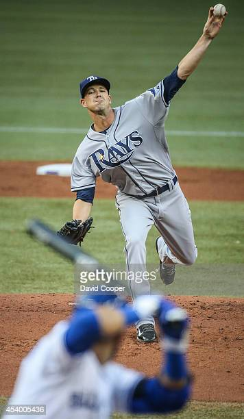 TORONTO ON AUGUST 22 Drew Smyly of the Tampa Bay Rays pitches during the game between the Toronto Blue Jays and the Tampa Bay Rays at the Rogers...