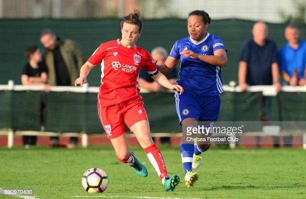 Drew Spence of Chelsea during a WSL 1 match between Bristol City Women and Chelsea Ladies at the Stoke Gifford Stadium on May 31 2017 in Bristol...
