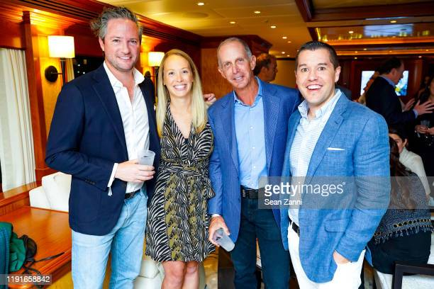 Drew Stoddard Kelly Holmes Ed Brown and Jay Holmes attend Sue Hostetler Beau Wrigley Host Cocktails To Honor The Anderson Ranch Sarah Arison And...