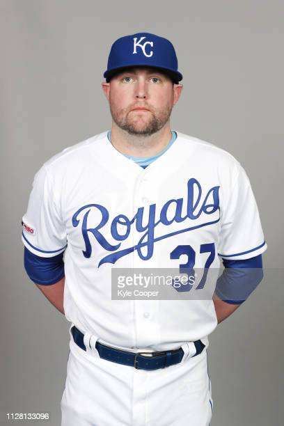 Drew Storen of the Kansas City Royals poses during Photo Day on Thursday February 21 2019 at Surprise Stadium in Surprise Arizona