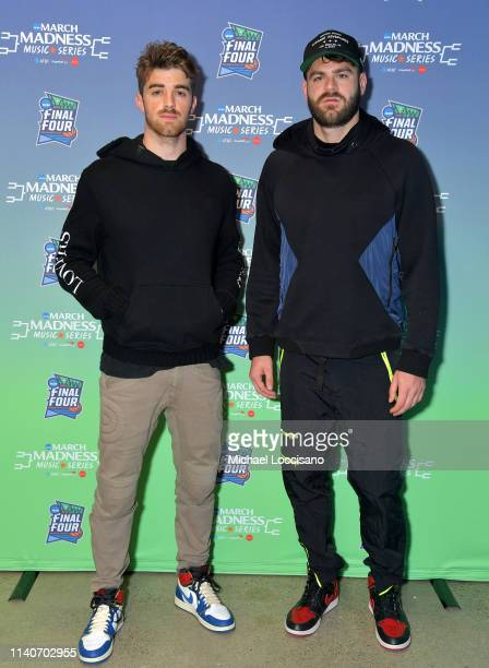 Drew Taggart and Alex Pall of The Chainsmokers attend the ATT Block Party during the NCAA March Madness Music Series at The Armory on April 05 2019...