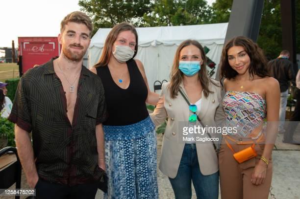 Drew Taggart, Mackenzie Meekins, Karolina Girasole and Chantel Jeffries attend the Hamptons Magazine x The Chainsmokers VIP Dinner at The Barn at...