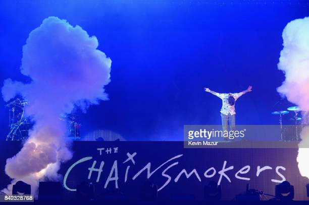 Drew Taggart of The Chainsmokers performs onstage during the 2017 Budweiser Made in America festival Day 2 at Benjamin Franklin Parkway on September...