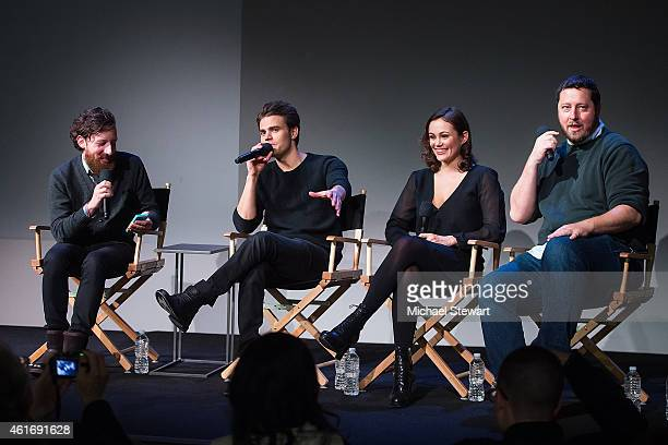 Drew Taylor Paul Wesley Dina Shihabi and Sean Mullin attend Apple Store Soho Presents Meet The Filmmakers Paul Wesley Dina Shihabi and Sean Mullin...