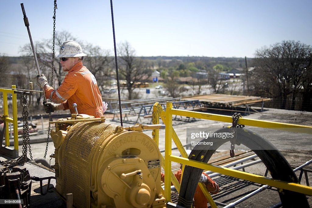 Drew Troyer, an operator for Baker Hughes Inc , conducts a