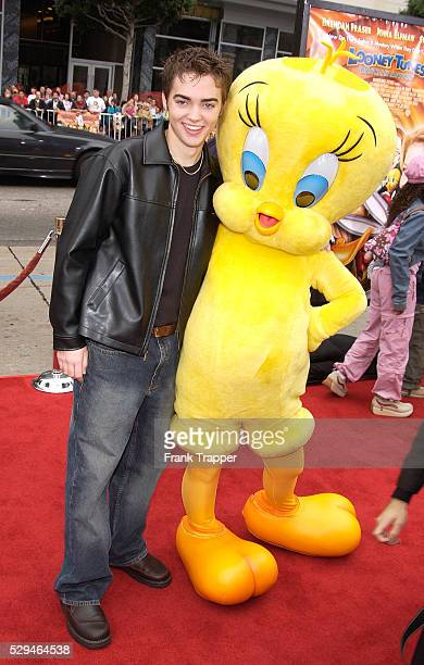 Drew Tyler Bell arrives at the premiere of Looney Tunes Back In Action