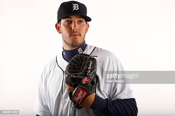 Drew VerHagen of the Detroit Tigers poses for a photo during the Tigers' photo day on February 28 2015 at Joker Marchant Stadium in Lakeland Florida