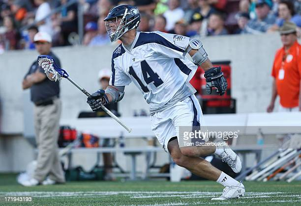 Drew Westervelt of the Chesapeake Bayhawks runs with the ball during Major League Lacrosse game action against the Hamilton Nationals on June 29 2013...