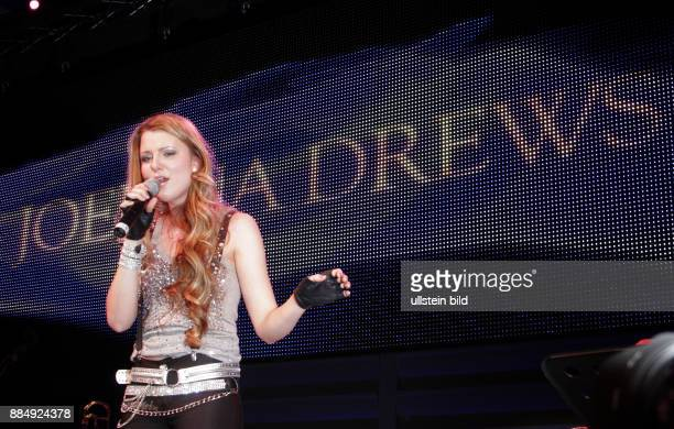 Drews Joelina Musician Singer Pop music Germnay performing during 112th Presseball in the Ullstein Halle in Berlin Germany