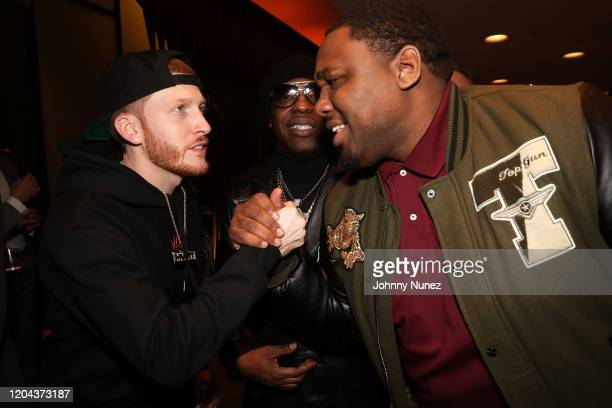 DJ DrewSki Uncle Murda and Mike Knox attend ABC's For Life New York Premiere at Alice Tully Hall Lincoln Center on February 05 2020 in New York City