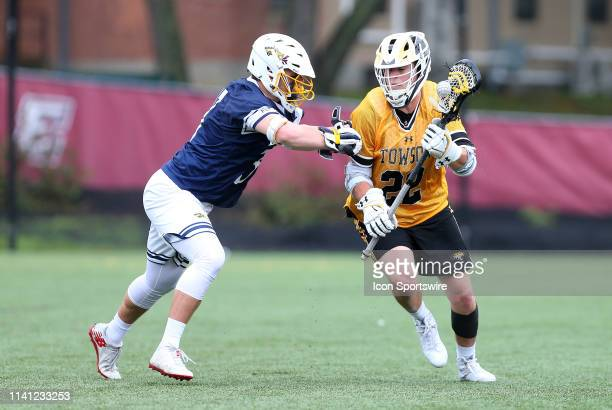 Drexel Dragons Christopher Friedman and Towson Tigers Timmy Monahan during the CAA Championship game between Drexel Dragons and Towson Tigers on May...