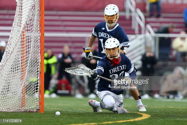 Drexel Dragons Ross Blumenthal in action during the CAA Championship game between Drexel Dragons and Towson Tigers on May 4 at Garber Field in...