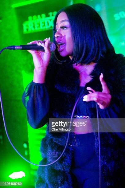 Drey Cheekz performs during Grime Aid 2019 at The Ace Hotel on February 20 2019 in London England
