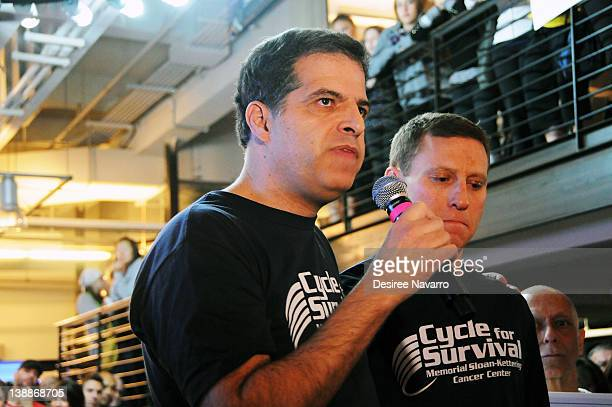 DrGary Schwartz speaks at the 2012 Cycle For Survival Day 2 at Equinox Graybar on February 12 2012 in New York City