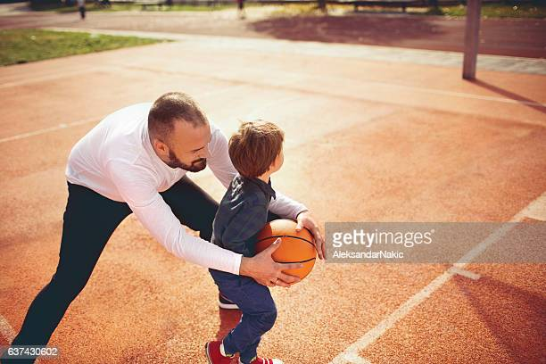 Dribbling with my boy