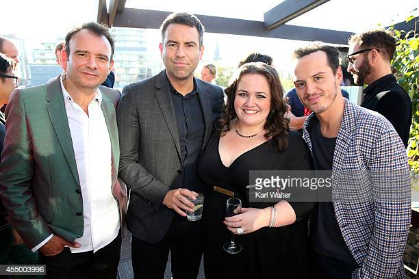 Driector Matthew Warchus writer Stephen Beresford actors Jessica Gunning and Andrew Scott attend the British Film Commission We are UK Film Party...