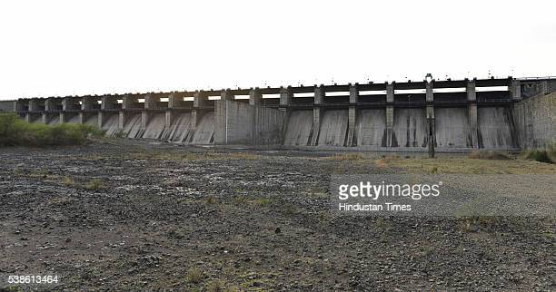 Dried and cracked storage area of the Manjara Dam Project Kalamb which supplies water to nine nearby regions including Latur on April 11 2016 in...