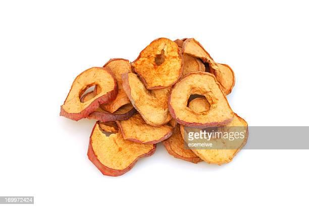 Seca porciones de manzana