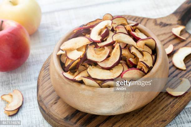 dried apples, dehydrated apples - dried food stock pictures, royalty-free photos & images