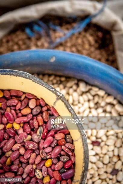 Dried beans for sale Kimironko Market Kigali Rwanda