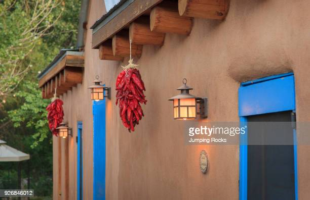 Dried Chili Peppers or Ristras Casa Escondida Chimayo New Mexico