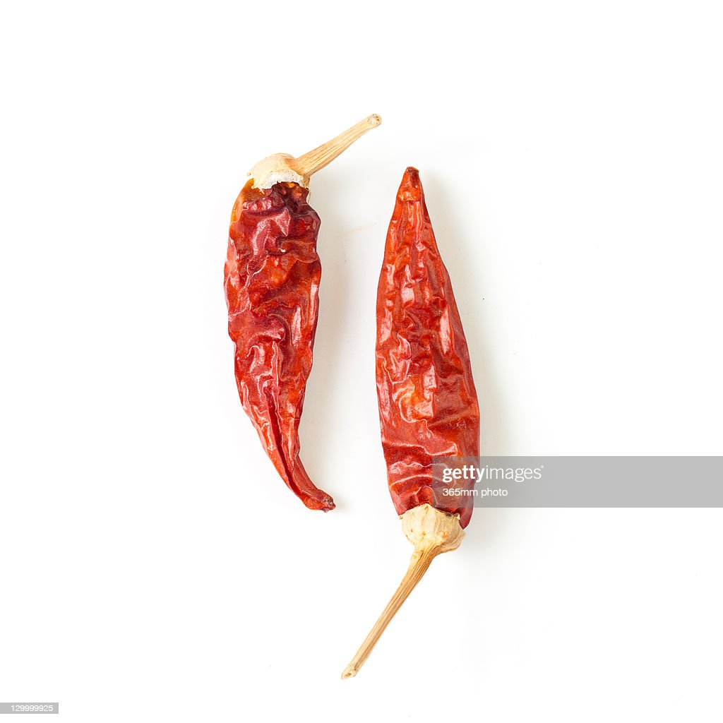 Dried chillies : Stock Photo