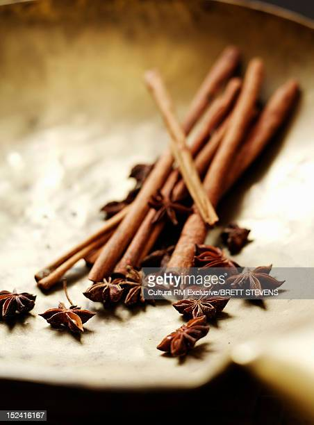 Dried cinnamon and star anise