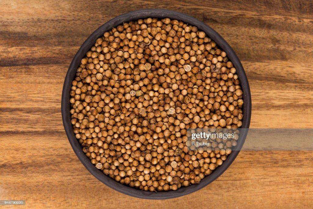 dried coriander seeds : Stock Photo