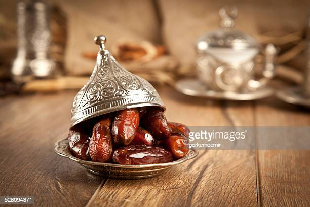dried date palm fruits or kurma, ramadan ( ramazan - ramadan stock pictures, royalty-free photos & images