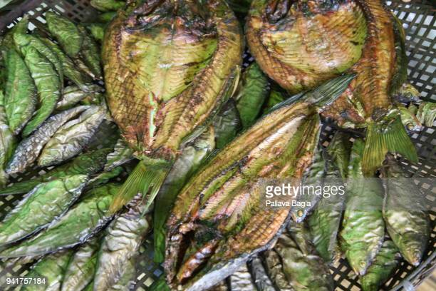Dried fish made ready for loacl market The Indian government has set up its first floating laboratory on a fibre glass boat and housed it in the...