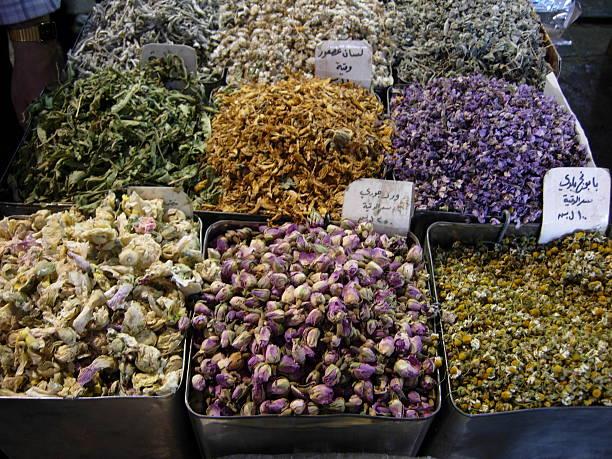 Dried flowers and herbs in Souk El-Hamidiyeh