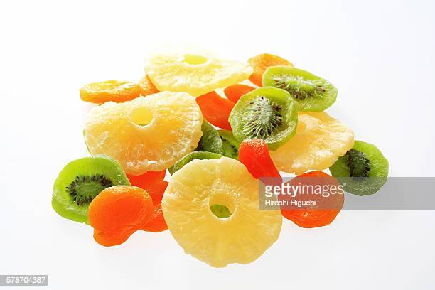 Dried fruits, pineapple, kiwi, apricot