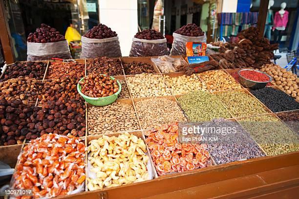 Dried fruits stall, DunHuang, China