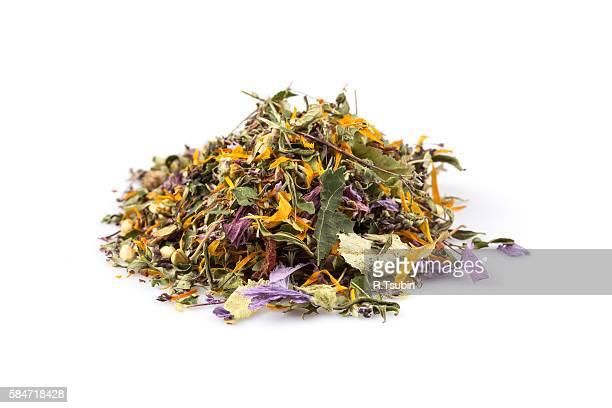 Dried herbal flower tea