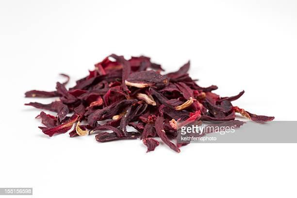 Flor de hibiscus seca