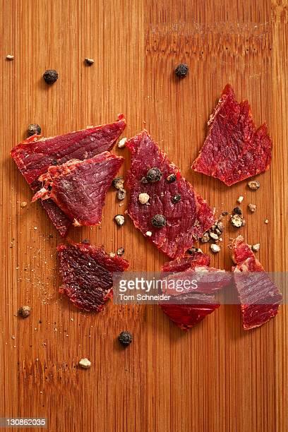 Dried meat, beef jerky