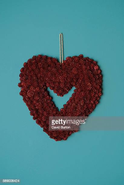 Dried Roses in Heart Shape