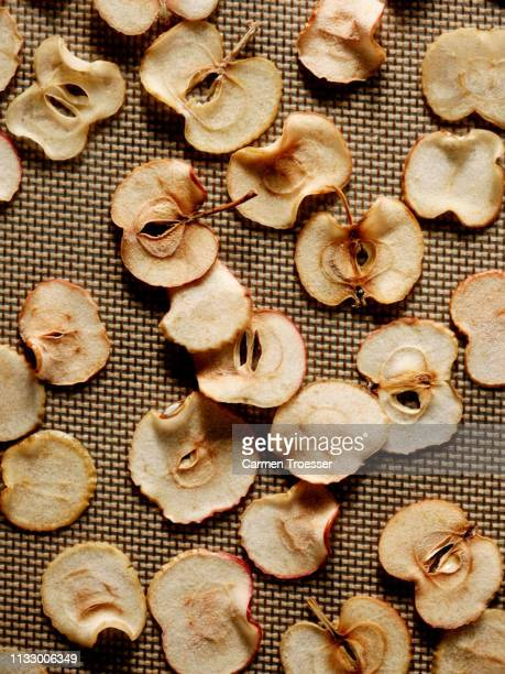 dried sliced apple - dried food stock pictures, royalty-free photos & images
