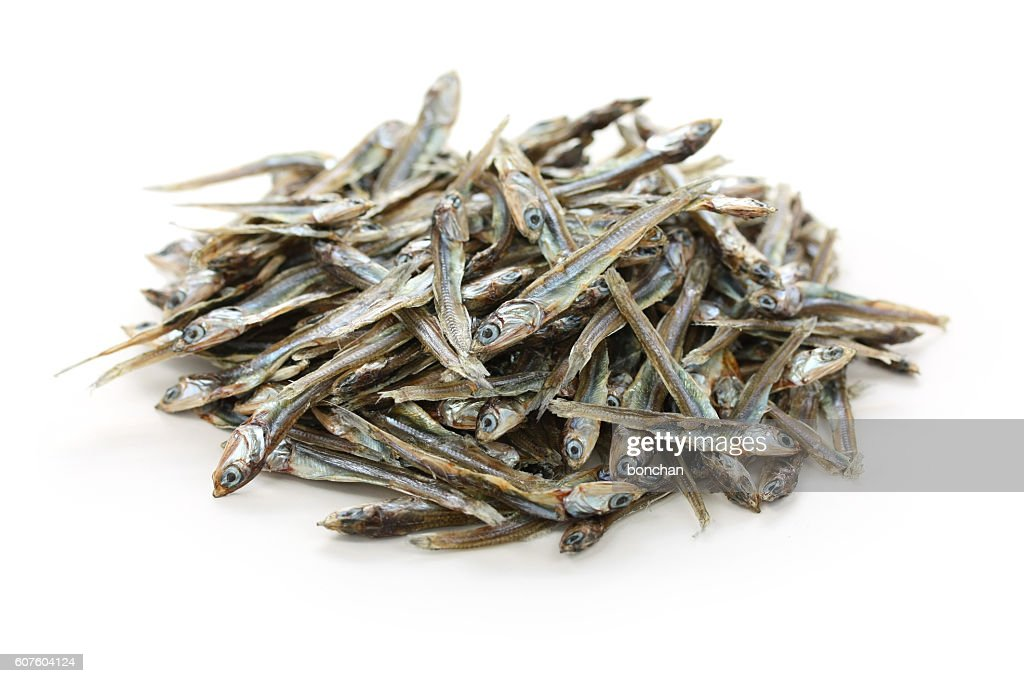 dried small anchovy sardine, japanese food : Stock Photo